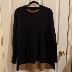 COS DUAL TONED WOOL BLEND CREW NECK SWEATER